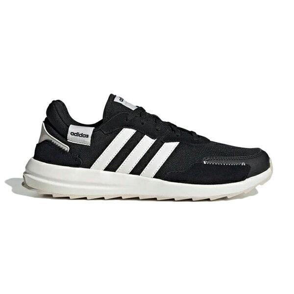 【EH1859】ADIDAS RETRORUN 復古運動鞋 慢跑鞋 織布面 黑白 女生