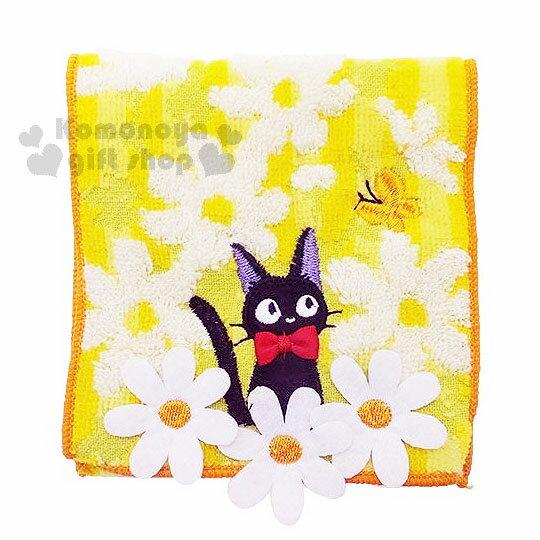 〔小禮堂〕魔女宅急便 毛巾布收納袋《黃.白花.KIKI.蝴蝶》日本丸真系列