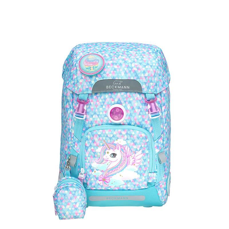 **含保固**帝安諾-實體店面 Beckmann 挪威皇家品牌 護脊書包 22L 防潑水反光設計 粉藍獨角獸