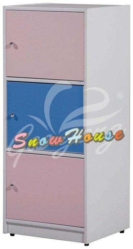 ╭☆雪之屋居家生活館☆╯AA543-02 PW-003塑鋼三層櫃(有門)書櫃/書架/置物櫃/雜物櫃/收納櫃