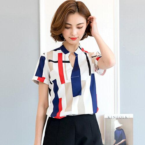 印花格子襯衫(2色S~2XL)【OREAD】 1