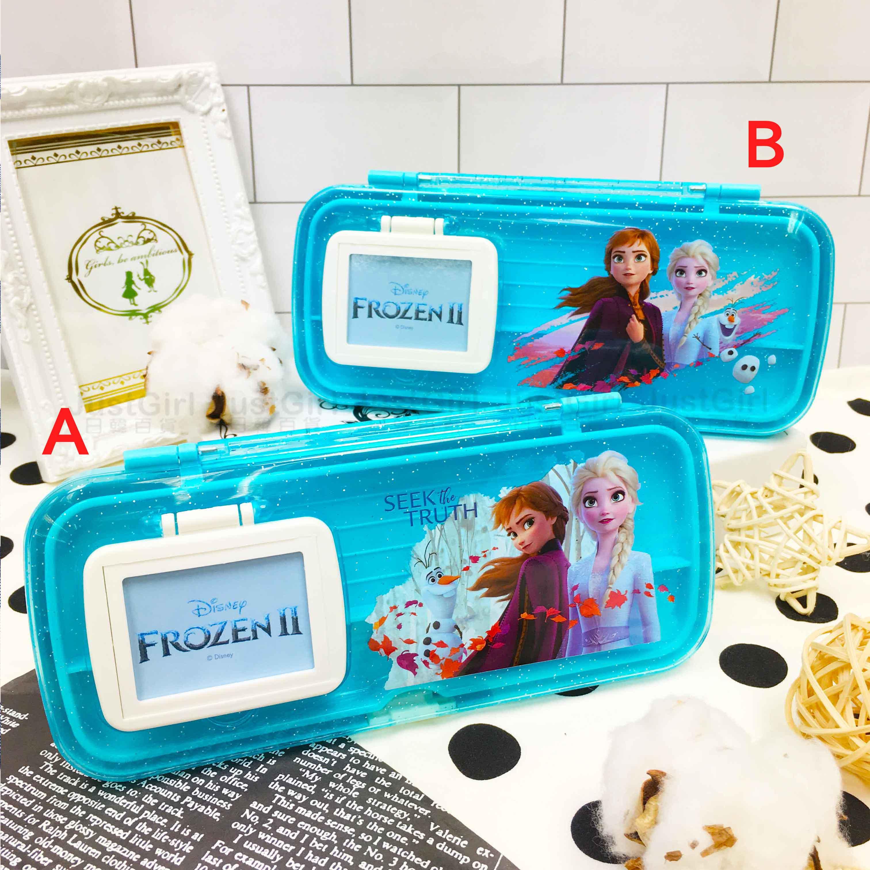 鏡梳組筆盒 迪士尼 冰雪奇緣2 Elsa 雪寶 Anna 2款 鉛筆盒 正版授權