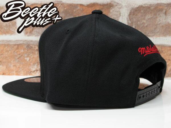 BEETLE MITCHELL&NESS NBA BULLS 芝加哥 黑紅 公牛 LOGO刺繡 SNAPBACK 後扣帽 1