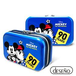 【加賀皮件】Deseno Disney 迪士尼 米奇系列 90週年 限量 紀念 手拿包 收納盥洗包 化妝包 航空硬殼包 201 甜蜜藍