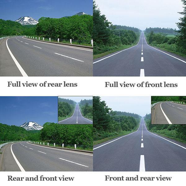 HD 1080 P 4.3\'\' Car Rearview Mirror Vehicle DVR Video Night Vision Car Dual Lens Camera Dash Cam Recorder 2