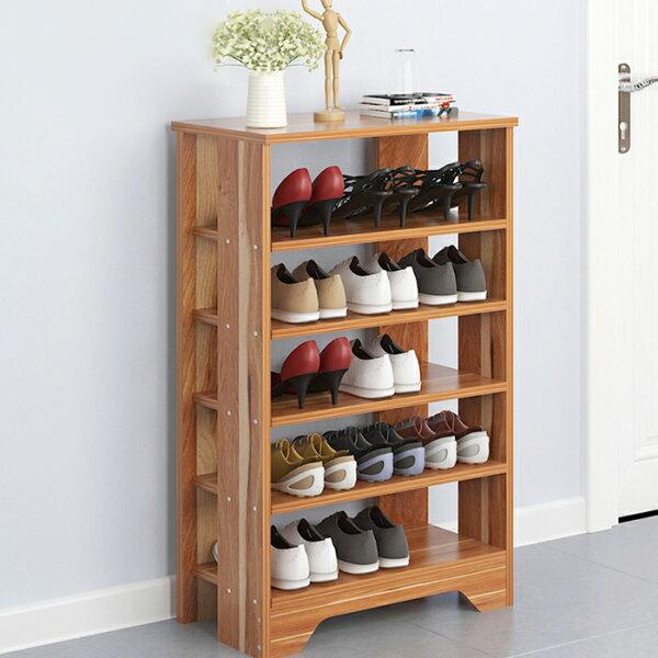 五層鞋架木製鞋櫃鞋架鞋櫃【YV9612】HappyLife