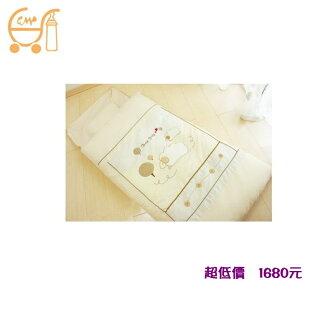 *美馨兒*東京西川GMP Baby 冬夏抗蹣菌幼稚園睡袋/兒童睡袋(數羊寶寶)米色 1680元
