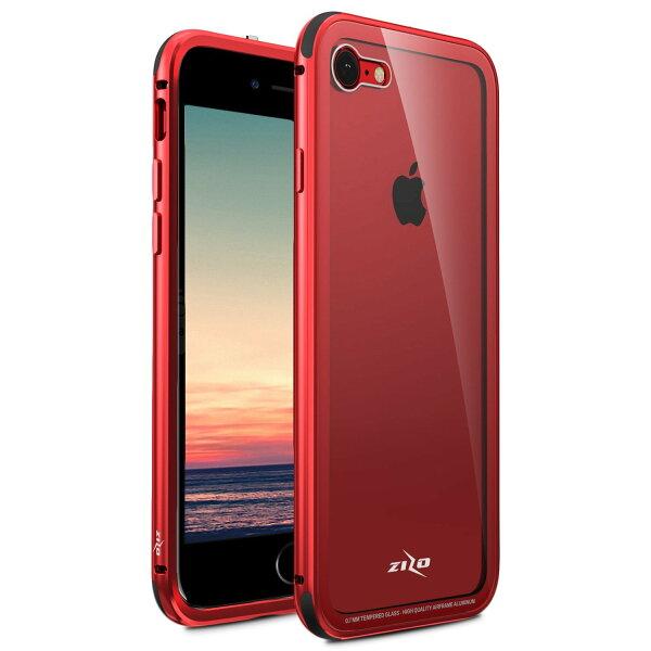 貝殼嚴選:【貝殼】ZizoBoltATOM系列iPhone8PlusiPhone7Plus手機殼防摔殼(贈非滿版玻璃貼)-紅色