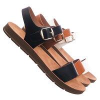 571b04c81a8e Plenty Black by Soda Soft Flexible Open Toe Flat Sandal On Lightweight Foam  Outsole