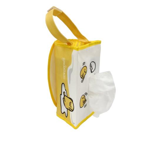 【Sanrio三麗鷗】蛋黃哥帆布吊掛面紙套 (可吊掛/貼心魔鬼氈設計拆裝好方便) 原價$220 [限時促銷]