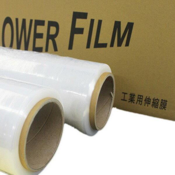 透明棧板膜 工業保鮮膜 PE膜 縮收膜(寬50cmX250m米) / 一箱4大卷入 { 定400 } 工業膠膜 打包膜 包裝束膜 收縮膜(無背膠)~明17*500 A1 0