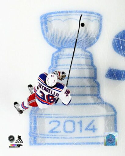 Mats Zuccarello of the New York Rangers skates prior to Game Two of the Eastern Conference Finals of the 2014 NHL Stanley Cup Playoff at the Bell Centre on May 19 2014 Photo Print (11 x 14) 083d02e7d08a64ebf1b3c56fb596f47c