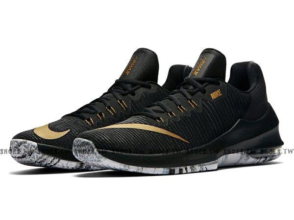 Shoestw【908975-090】NIKEAIRMAXINFURIATE2LOW籃球鞋後氣墊黑金男生