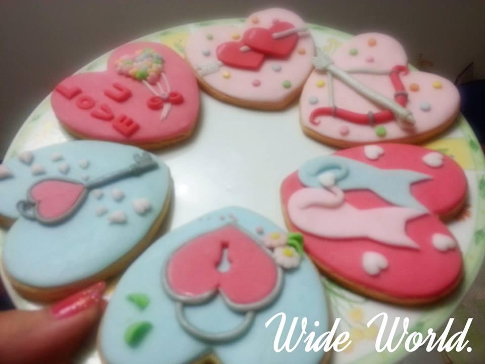 情人節甜蜜蜜造型手工餅乾   1盒6入【Wide World 手工餅乾】