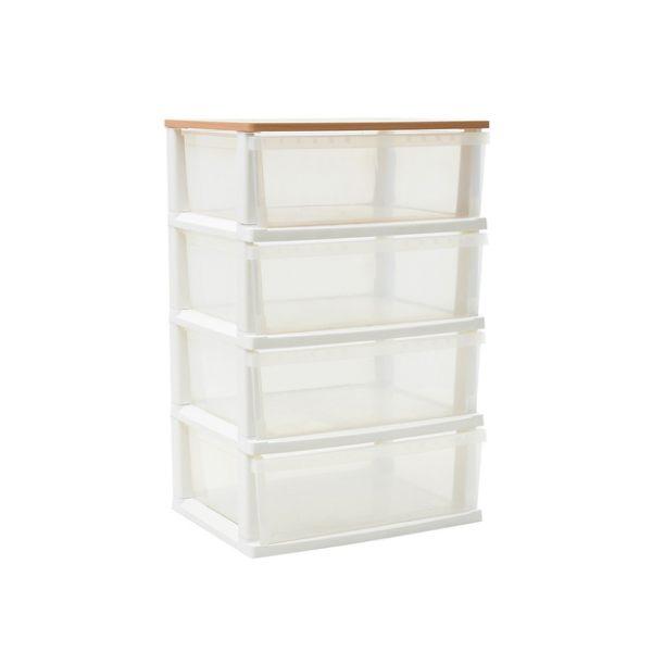 收納櫃 / 斗櫃 Q BOX木天板衣物抽屜收納櫃四層  MIT台灣製 現領優惠券 完美主義 【Q0039】 1