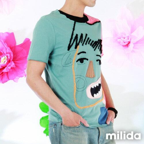 【Milida,全店七折免運】男生款-獨家設計情侶款T恤 5