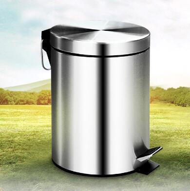 歐潤哲垃圾桶家用不銹鋼腳踏式有蓋衛生間客廳大號廚房歐式垃圾筒【全館免運 限時鉅惠】