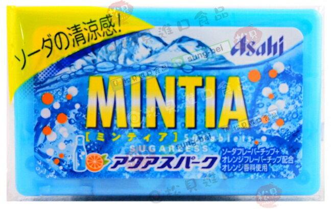 《松貝》朝日MINTIA清涼蘇打喉糖7g【4946842520787】