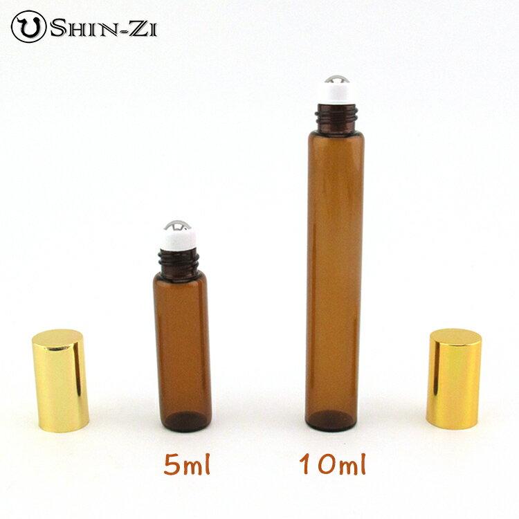 【新上市超值好禮】10ml可攜帶 咖啡色滾珠精油瓶.可放精油或香水在瓶內