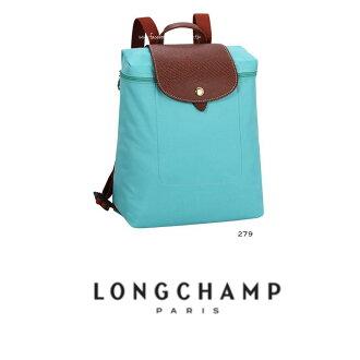 【LONGCHAMP】 LE PLIAGE 湖水綠折疊後背包