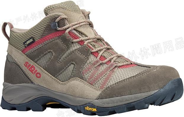 SIRIO 登山鞋/健行鞋/休閒鞋/背包客/旅遊 PF156-2 日本 Gore Tex防水透氣黃金大底 中筒棕紅/台北山水