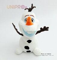 【UNIPRO】迪士尼 冰雪奇緣 FROZEN 雪寶 Olaf 19cm 坐姿 絨毛玩偶 娃娃 正版授權 雪人