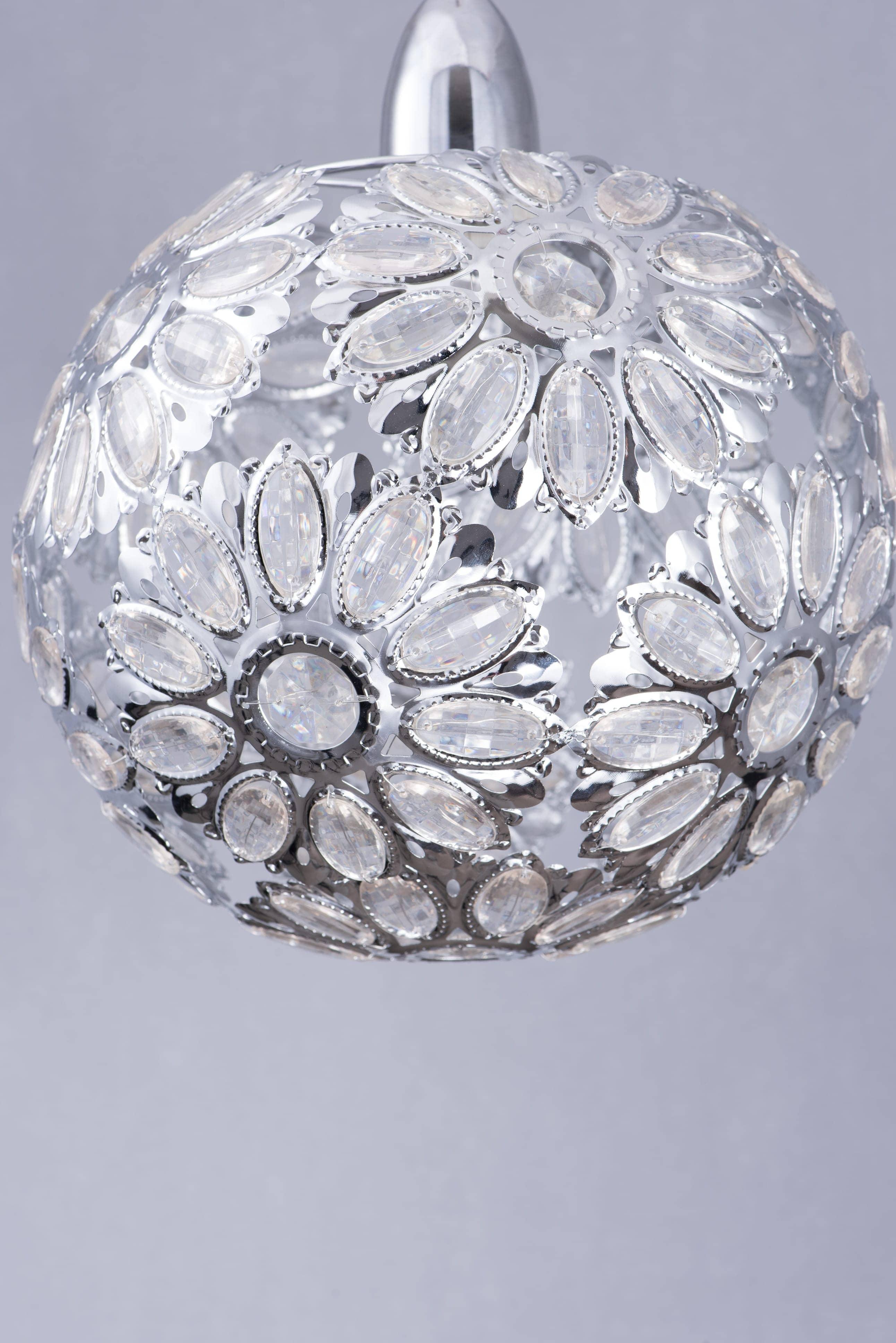 鍍鉻波斯蘭菊吊燈-BNL00086 0