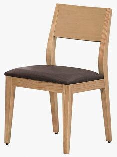 【石川家居】YE-A475-01喬伊原木餐椅(咖啡亞麻紋皮)(單張)(不含餐桌與其他商品)台北到高雄搭配車趟免運