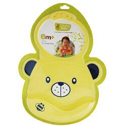 Creative Baby 創寶貝 可收納式攜帶防水無毒矽膠學習圍兜-黃色小熊★衛立兒生活館★