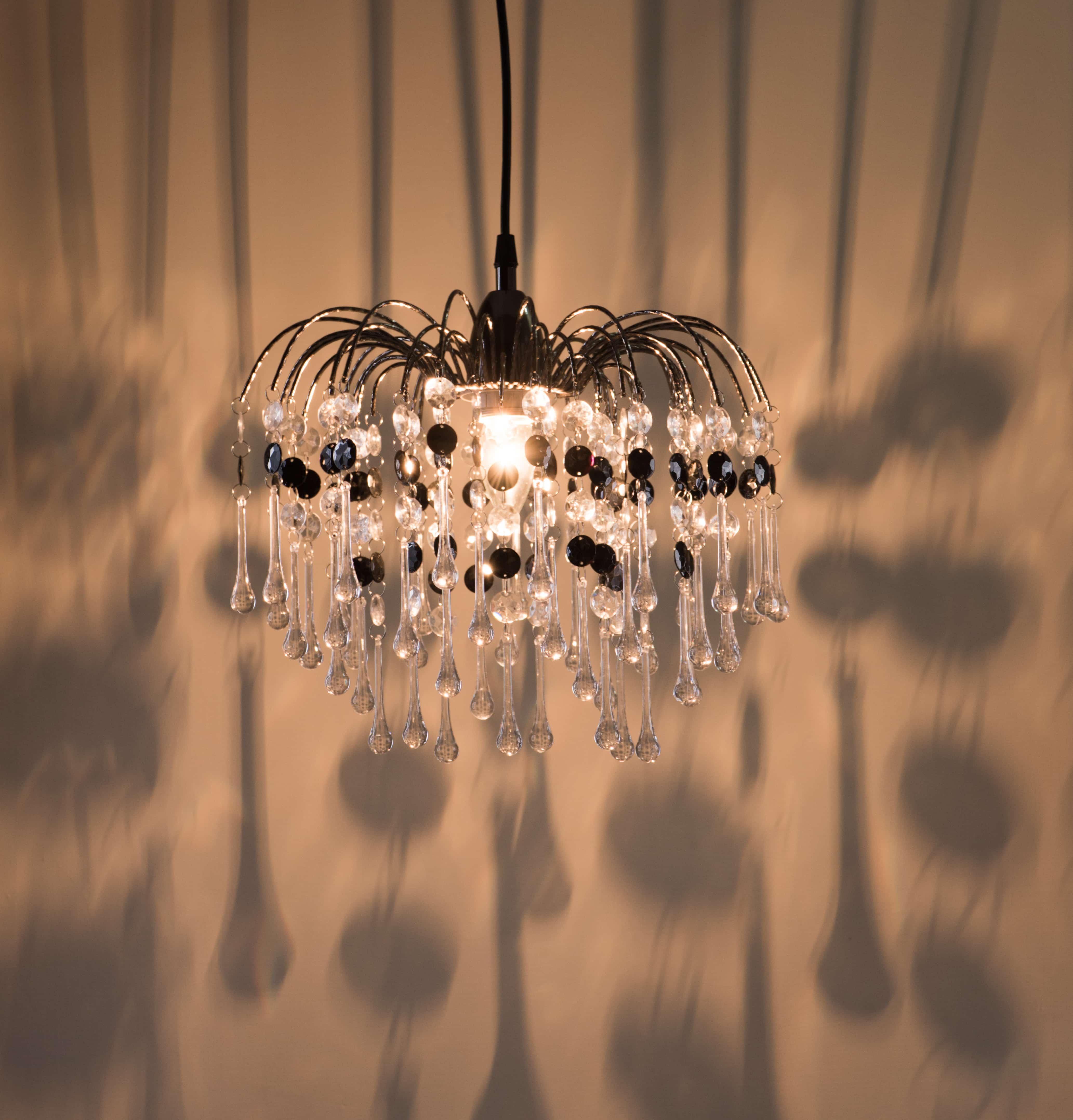 鍍鉻噴泉支架黑色壓克力珠吊燈-BNL00042 4