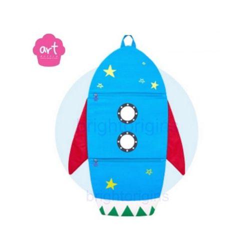 Baby muffin ART Muffin Kids Multi Storage 掛壁式收納袋(火箭)★衛立兒 館★
