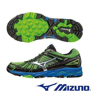 J1GJ165703(綠X銀)GORE-TEX防水透氣 WAVE MUJIN 3 男戶外慢跑鞋 A【美津濃MIZUNO】