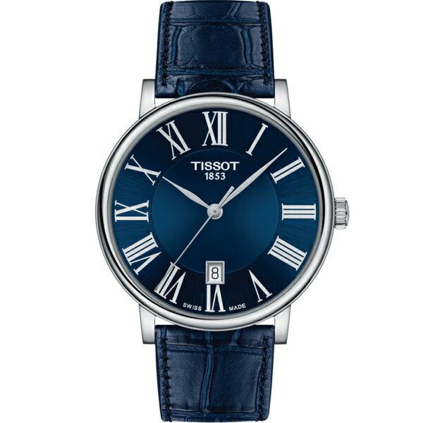 寶時鐘錶 TISSOT天梭CARSON經典時尚男錶(T1224101604300)