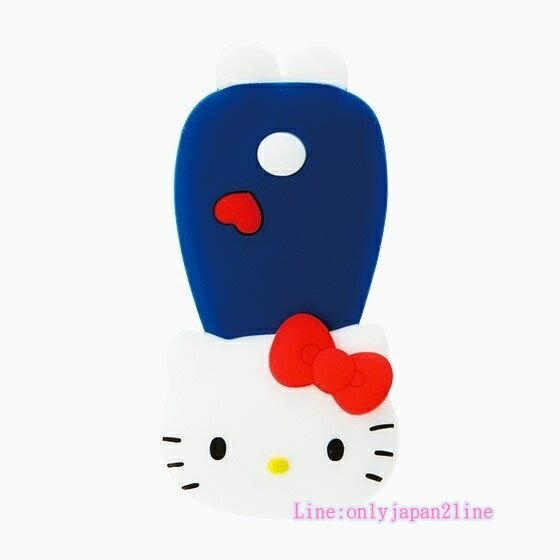 【真愛日本】17040600066 造型矽膠扣式集線夾-KT+AAI 三麗鷗 Hello Kitty 凱蒂貓 耳機集線器 收線器