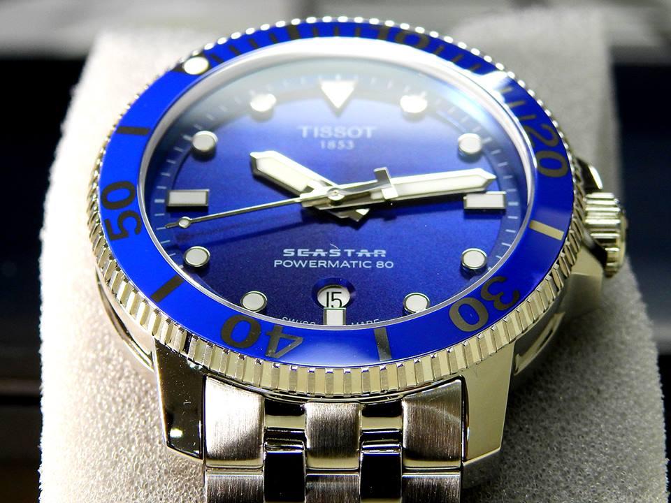 TISSOT 天梭 T1204071104100 Seastar 1000 海洋之星300米潛水機械錶 藍 43mm 5