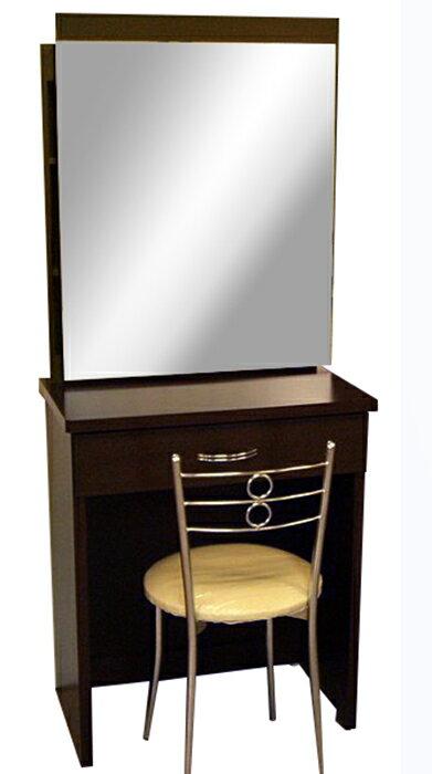 【尚品傢俱】※超便宜※642-02 胡桃鏡台化妝台(含椅)~另有白橡色