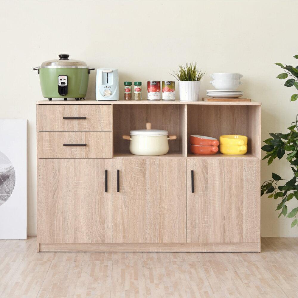 《HOPMA》家具/DIY/收納/居家/收納櫃/櫃子 工業風三門二抽二格廚櫃 PC-D-C186