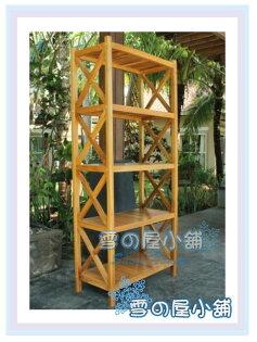 ╭☆雪之屋小舖☆╯UW-327四層柚木大書櫃長方書櫃書架置物櫃收納櫃雜物櫃DIY自組