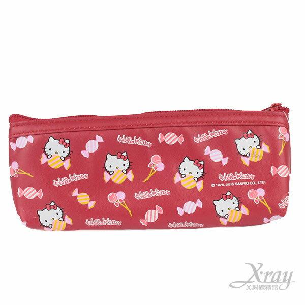 X射線【C969260】Kitty PU船型筆袋 ,筆盒/化妝包/美妝小物/文具包/開學季