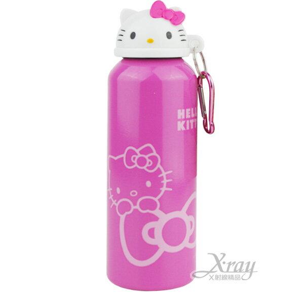X射線【C473719】Hello Kitty造型水壺500ml(粉.頭型),水瓶/開學必備/飲水杯/方便攜帶