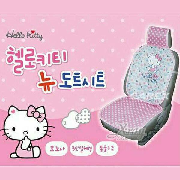 X射線【C219108】HelloKitty車用前座椅墊,汽車用/車配/座墊/塑膠椅墊