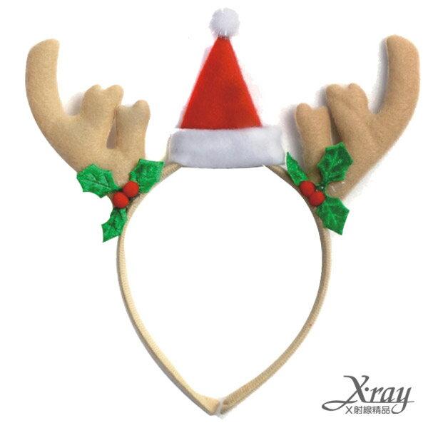 X射線【X009080】聖誕帽與鹿角髮圈,聖誕節/聖誕擺飾/聖誕佈置/聖誕造景/聖誕裝飾