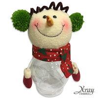 送小孩聖誕禮物推薦聖誕禮物卡通娃娃到X射線【X716198】耳罩雪人糖果罐,玩偶糖果罐/聖誕節/交換禮物/聖誕小禮物/收納罐就在X射線 精緻禮品推薦送小孩聖誕禮物