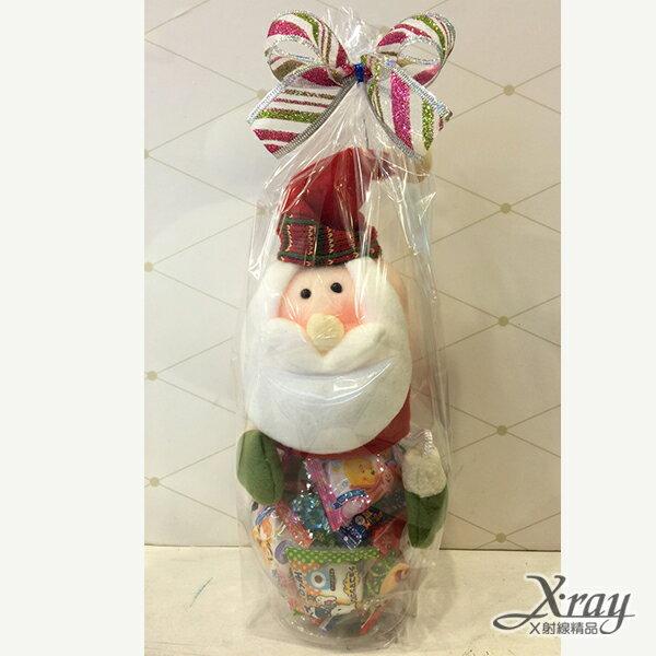 X射線【X715198】聖誕老公公糖果罐組(罐子+糖果+包裝),玩偶糖果罐/聖誕節/交換禮物/聖誕小禮物/收納罐