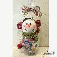 送小孩聖誕禮物推薦聖誕禮物卡通娃娃到X射線【X716198】耳罩雪人糖果罐組(1入罐子+糖果+包裝),玩偶糖果罐/聖誕節/交換禮物/聖誕小禮物/收納罐就在X射線 精緻禮品推薦送小孩聖誕禮物