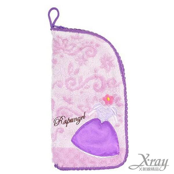 X射線【C008300】魔法奇緣毛巾材質收納袋,浴巾/毛巾/盥洗小物/迪士尼公主