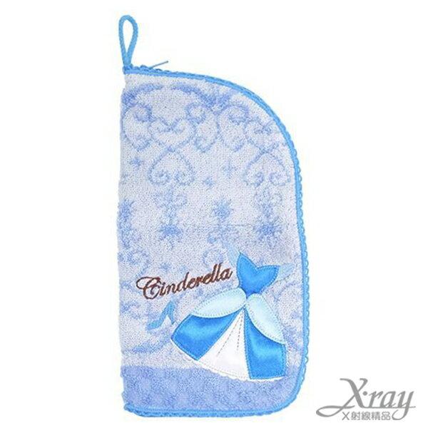 X射線【C008600】灰姑娘毛巾材質收納袋,浴巾/毛巾/盥洗小物/迪士尼公主