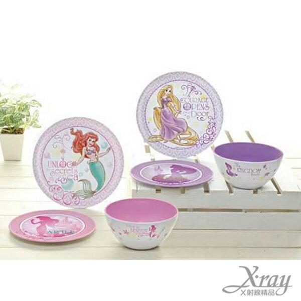 X射線【C011834】DISNEY 公主塑膠碗盤組景品,餐具/蛋糕盤/點心盤/環保餐具/便當/餐具組