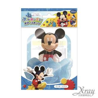 X射線【C012263】米奇造型噴水沐浴球,泡澡/洗澡球/卡通/可愛日式/玩具