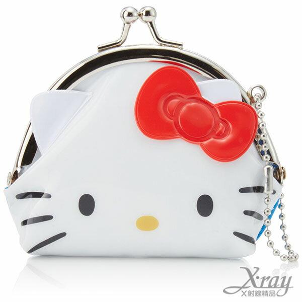 X射線【C047317】HelloKitty造型塑膠零錢包,美妝小物包/口金包/包包